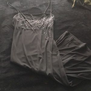 Black n silver dress